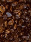 Chocoladen koffieboontjes