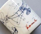 Detail koffiemok Panamarenko Tribute