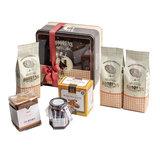Cadeau bewaarblik met ambachtelijke producten_