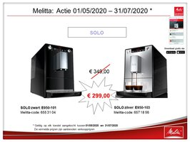 Melitta Caffeo Solo zilver / zwart