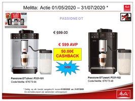 Melitta Caffeo Passione OT zilver / zwart