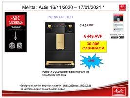 Melitta Caffeo Purista Gold F230-103 Jubilee Edition