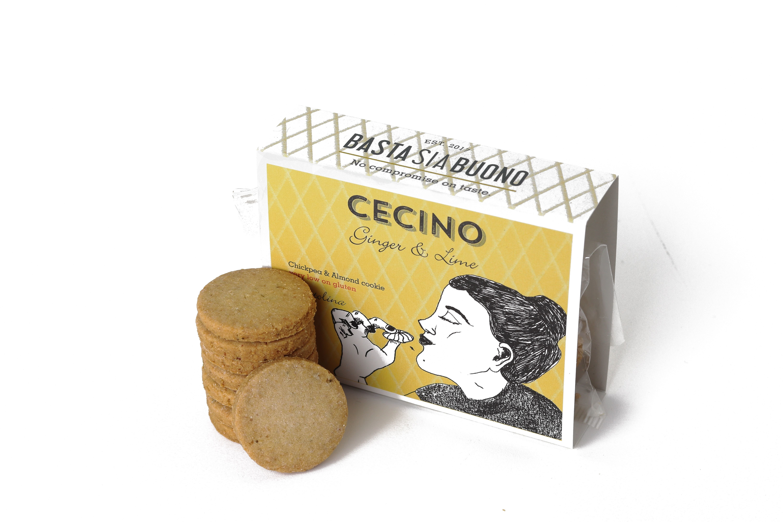 Cecino vegan koekjes scatolina 60gr - gember en limoen