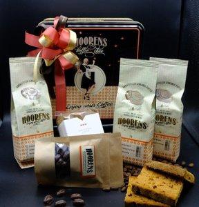 Bewaarblik cadeau met koffie en lekkers