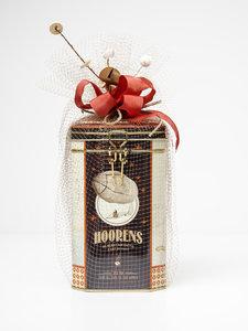 Cadeaublik koffie bonen of gemalen