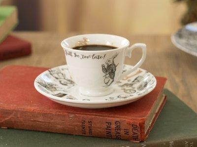 Espressokop met schotel Alice in Wonderland