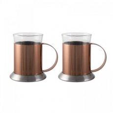 Dubbelwandige koperen glazen La Cafetière online kopen